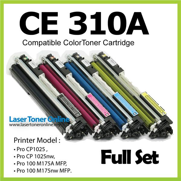 CE310A Compatible-HP LaserJet Pro 100 CP 1025 1025nw M175A Black+Color