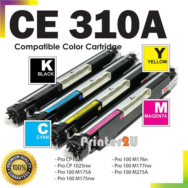 CE310A Compatible HP LaserJet Pro M175 M275 MFP Black and Color Toner