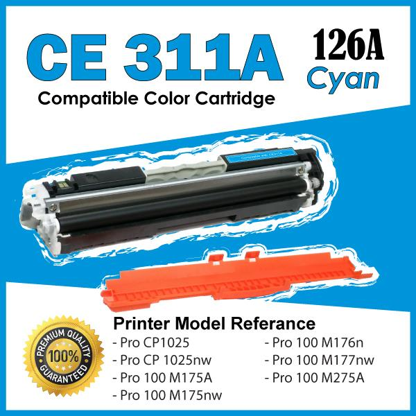 CE311A/126A 311A Cyan Compatible HP LaserJet Pro CP 1025 1025nw Color