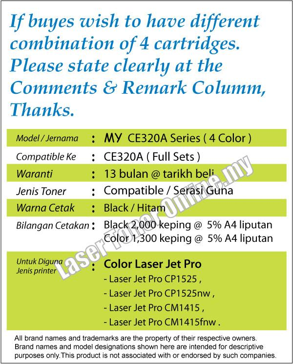 CE320A/128A Compatible-HP Laser Pro CP1525 CP1525nw CM1415 CM1415fnw