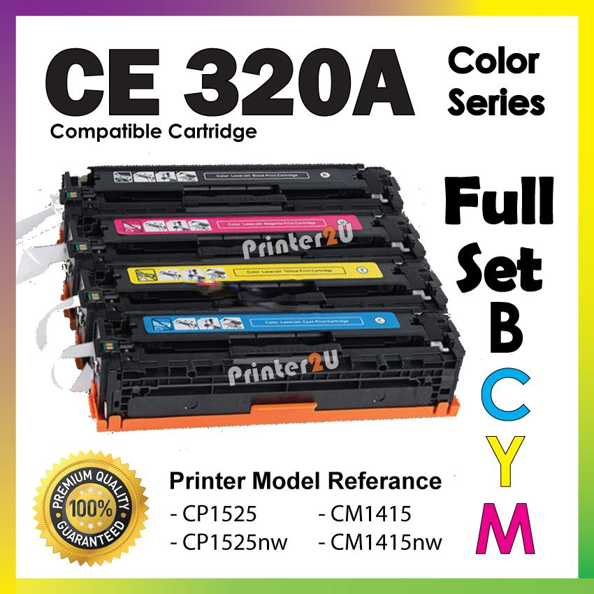 CE320A/CE 320A 320 Compatible-HP CP 1525 1525nw CM 1415 1415fnw Color
