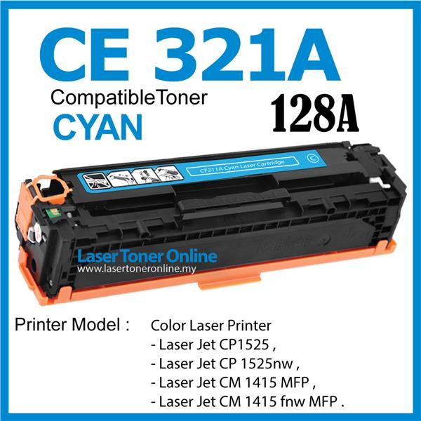 CE321A/128A Compatible HP Laser Pro CP1525 CP1525nw CM1415 CM1415fnw
