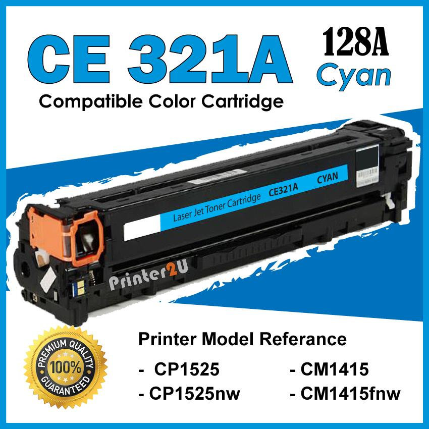 CE321A/CE 321A 128A Compatible HP CP 1525 1525nw CM 1415 1415fnw Color