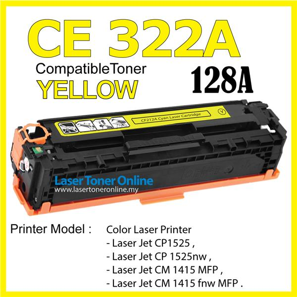 CE322A/128A Compatible HP Laser Pro CP1525 CP1525nw CM1415 CM1415fnw