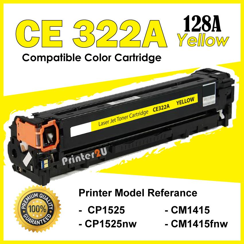 CE322A/CE 322A 128A Compatible HP CP 1525 1525nw CM 1415 1415fnw Color