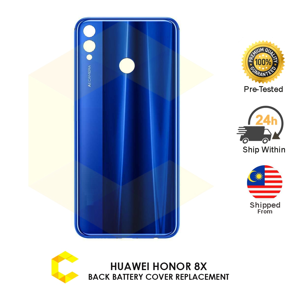 CellCare HUAWEI HONOR 8X BACK GLASS BATTERY COVER HOUSING