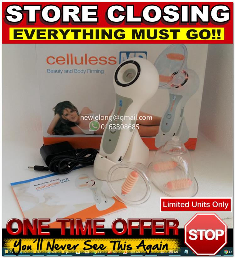 Celluless Md Portable Vacuum Body Massager Anti Cellulite Therapy Remo