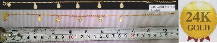 **CELLY**  24K Gold Plated Anklet