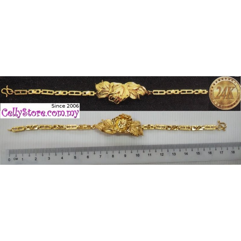**CELLY**   24K Gold Plated Flora Bracelet
