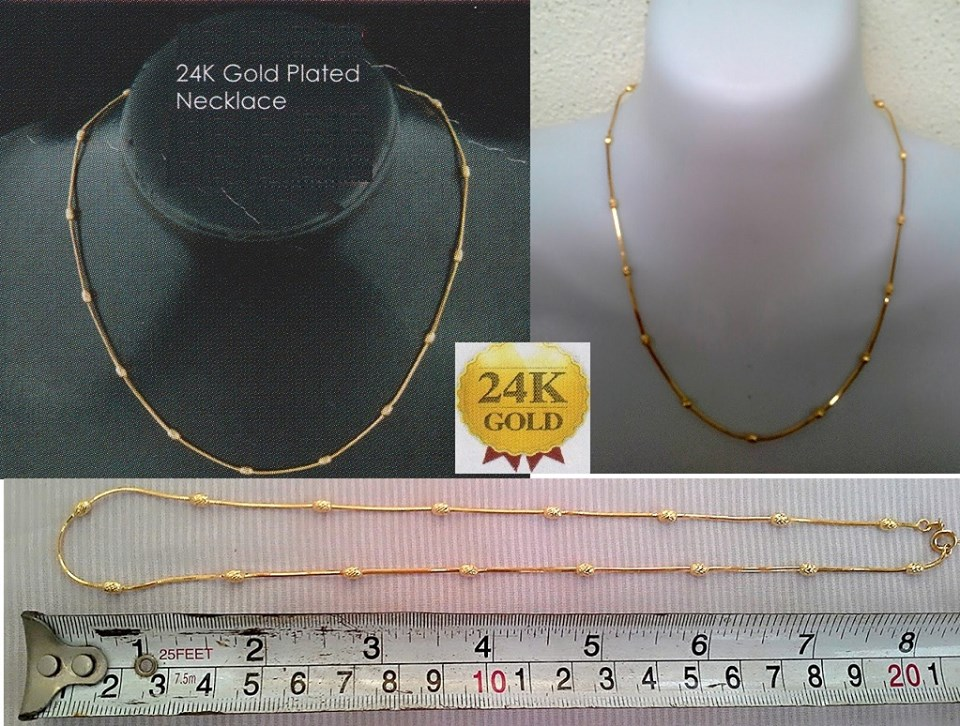 **CELLY**  24K Gold Plated Necklace