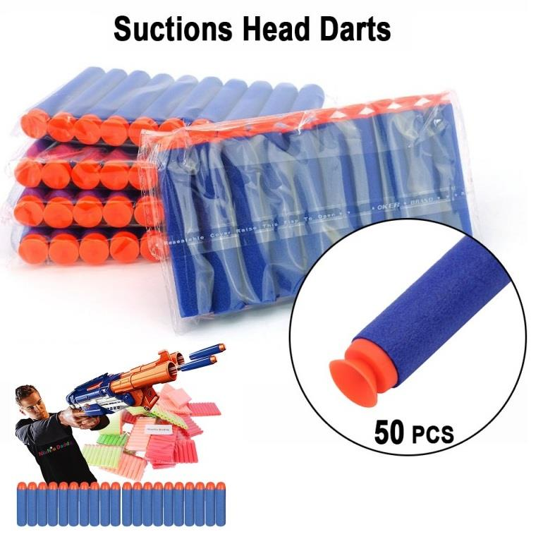 CELLY 50 Pcs Toy Gun Refill Darts Sniper Bullet Blaster