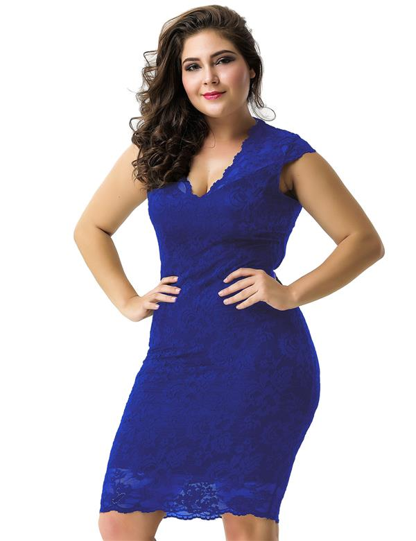 CELLY Plus Size Elegant Blue Half Sleeve Slim Fashion (CSOH V1060-1P)