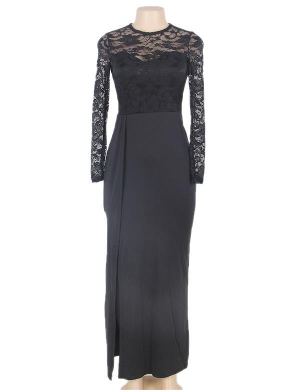 CELLY Plus size Sexy Black Lace Trim party gown (CSOH R70196P)