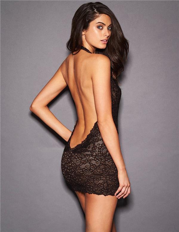 077096d4407f4 CELLY WOMEN Plus Size Black lace Deep V Collar Chemise(CSOH R80592-1P)