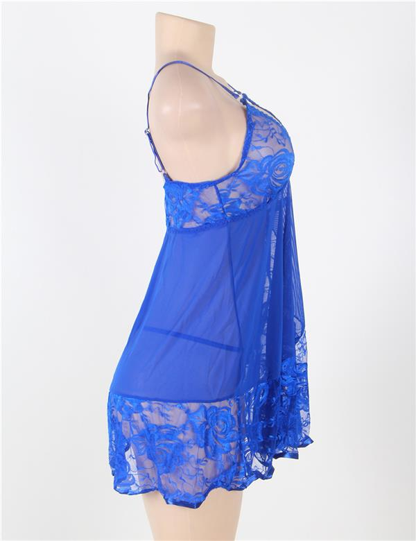 85611eecf134b CELLY WOMEN Plus Size Soft Lace Babydoll G-string (CSOH R80158P)