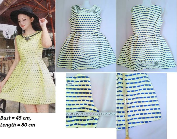 **CELLY**   Yellow Pattern Dress (Fit Up to L)