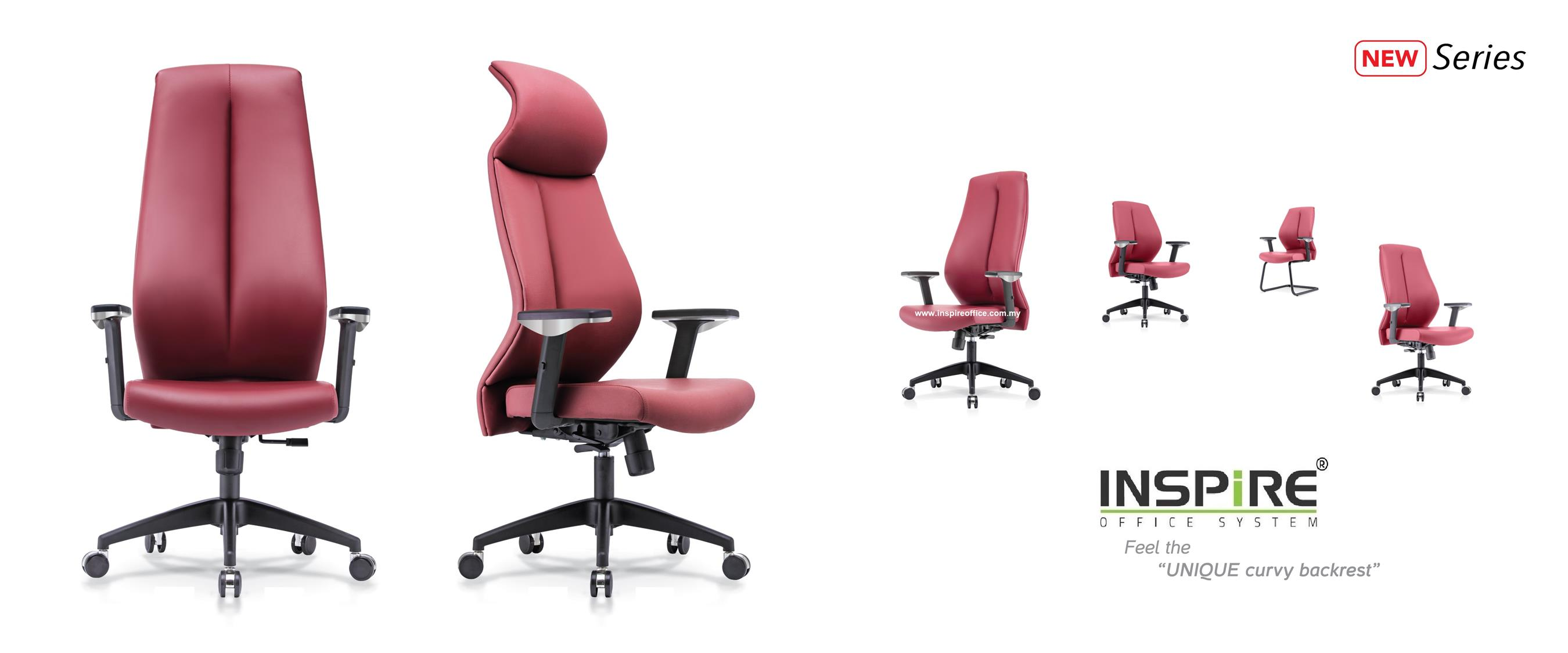 CELOSIA INS-1HB High Back PU/Fabric Office Chair