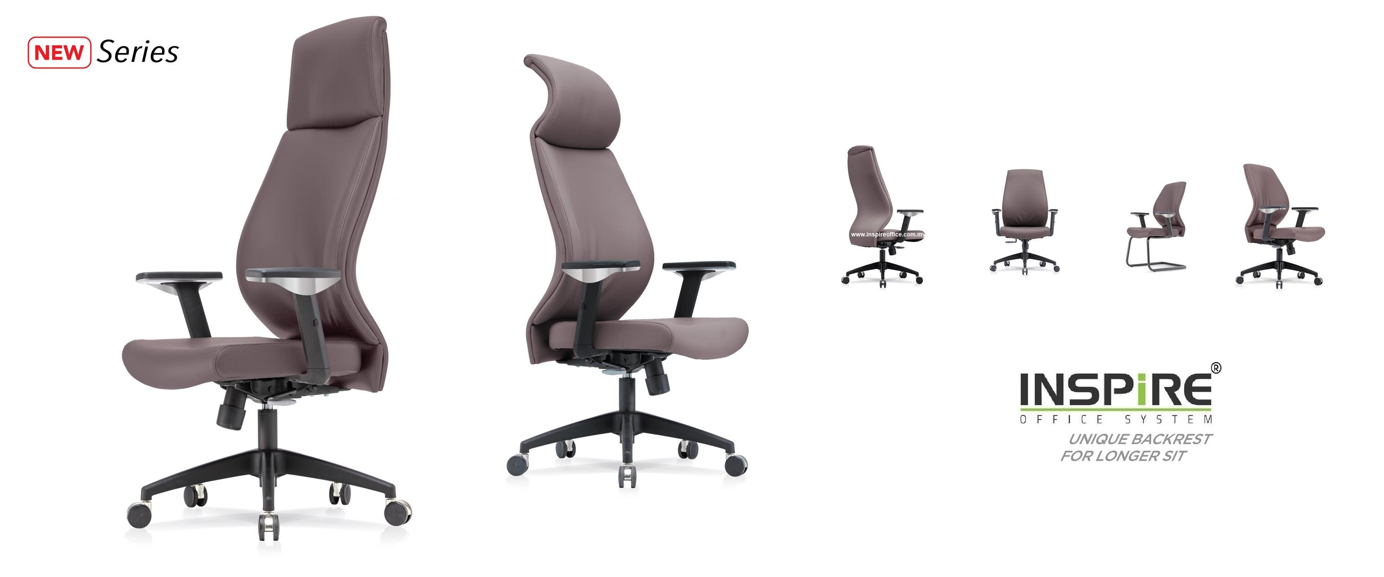 CELOSIA INS-3CHB High Back Curve PU/Fabric Office Chair