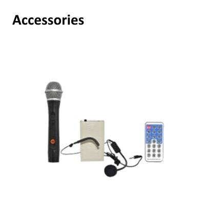 Cenfonix Portable Wireless PA Amplifier with Clip Mic & Handheld Mic