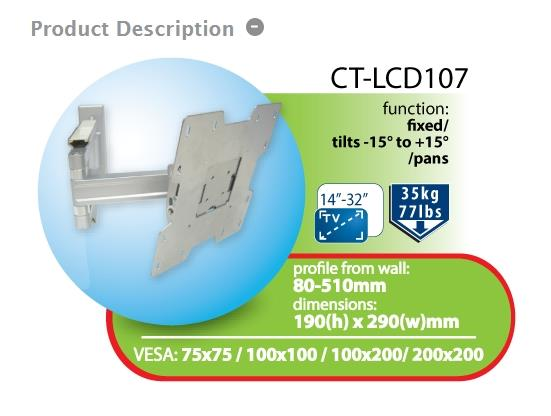 CENTO WALLMOUNT FOR 13'-31' LCD (CT-LCD107)