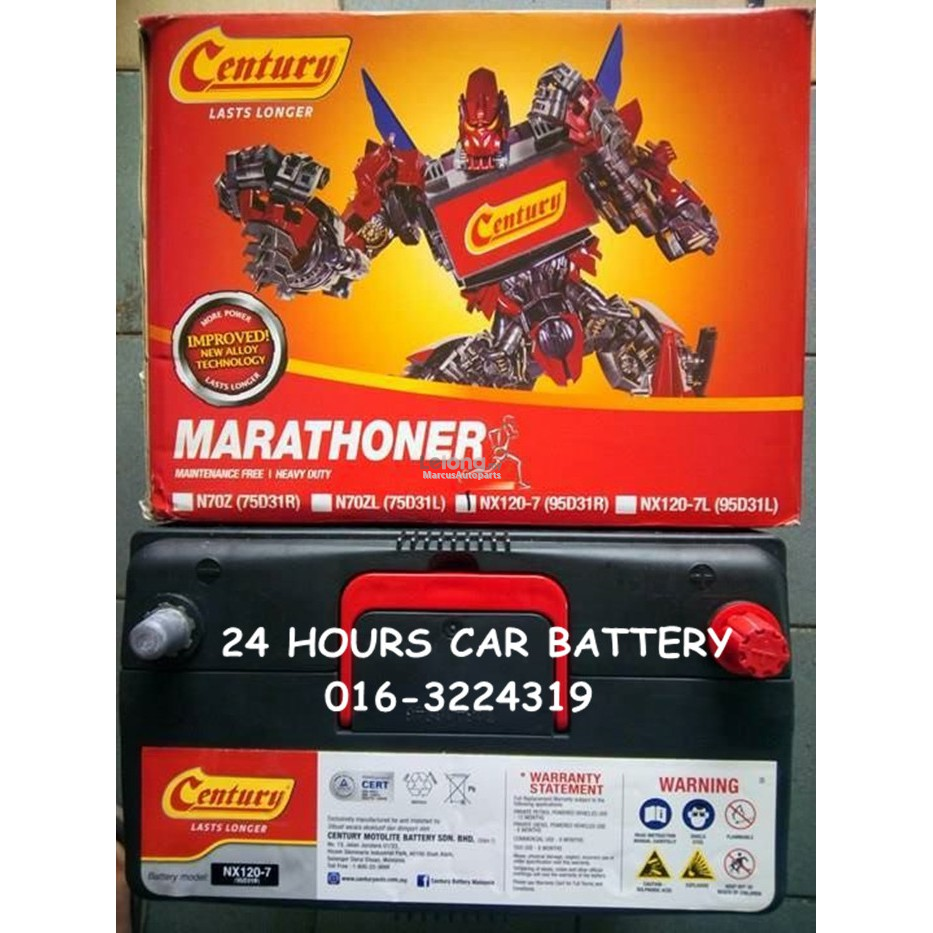 CENTURY MARATHONER NX120-7 (95D31R) AUTOMOTIVE CAR BATTERY