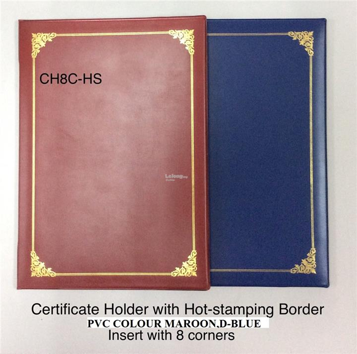 CERTIFICATE FOLDER PVC A4 WITH HOTSTAMPING GOLD AND SPONGE