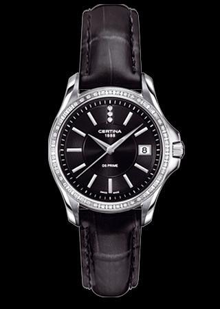 CERTINA C004.210.66.056.00 DS Prime Lady Round Date Diamonds LSB Black. ‹ › 0354af08c65
