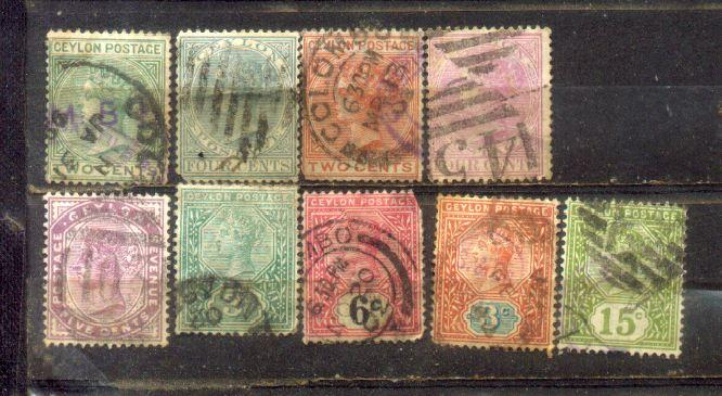 Ceylon Old Stamps Lot 4