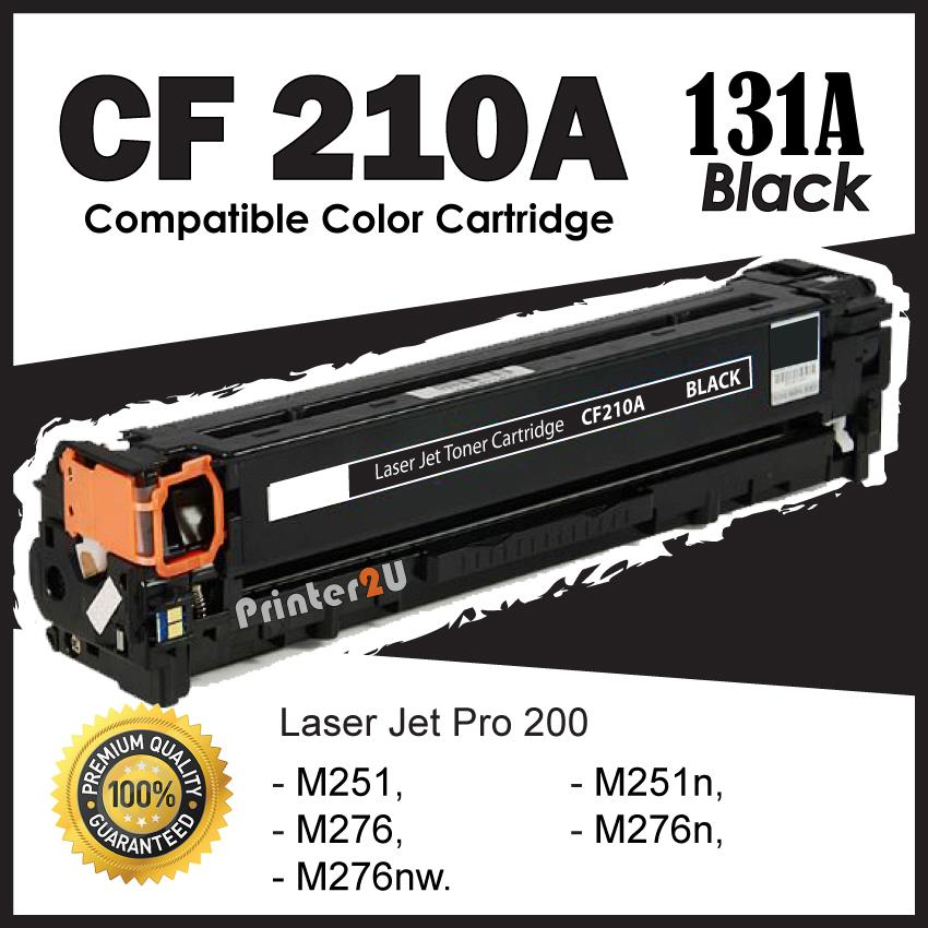 CF210A/CF 210A/131A Black Compatible HP Pro 200 Color Laser M 251 276