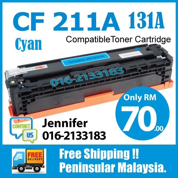 MY CF211A/CF 211A/131A Blue/Cyan Compatible-HP Pro 200 Color M 251 276