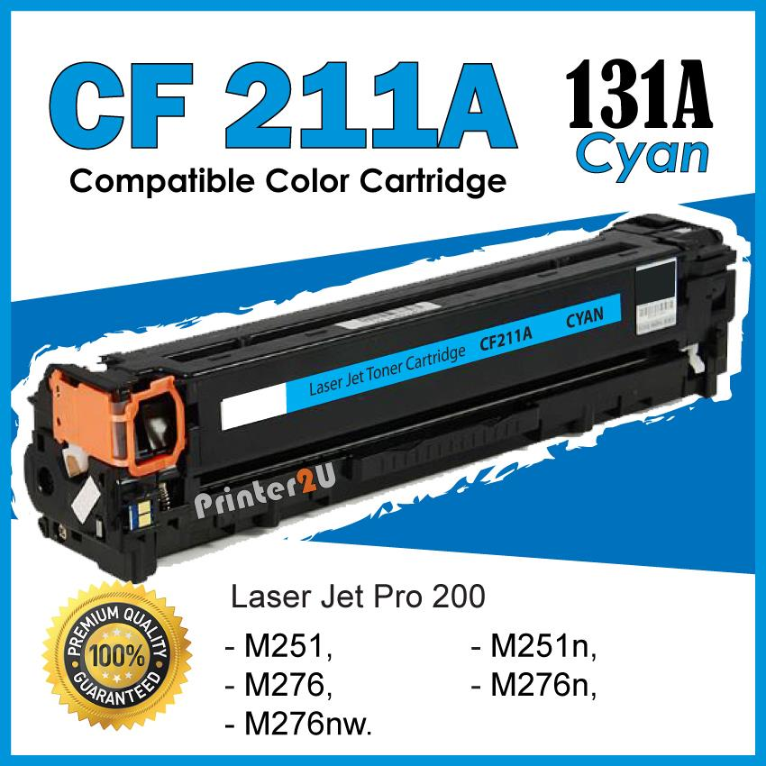 CF211A/CF211/131A Cyan C Compatible-HP Pro 200 Color M 276 276n 276nw