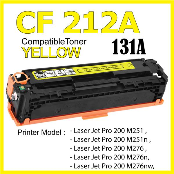CF212A/131A Color Compatible-HP Pro 200 M251 M276 M276n M276nw MFP 131