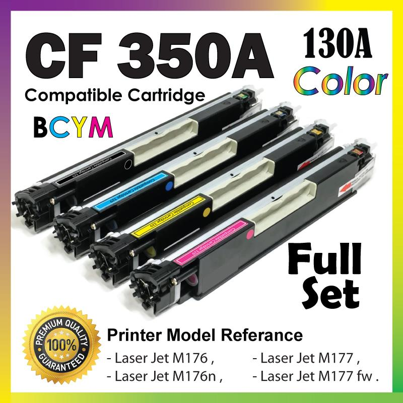 CF350A/130A Color Compatible-HP Pro M176 M176n M177 M177FW MFP Set 130