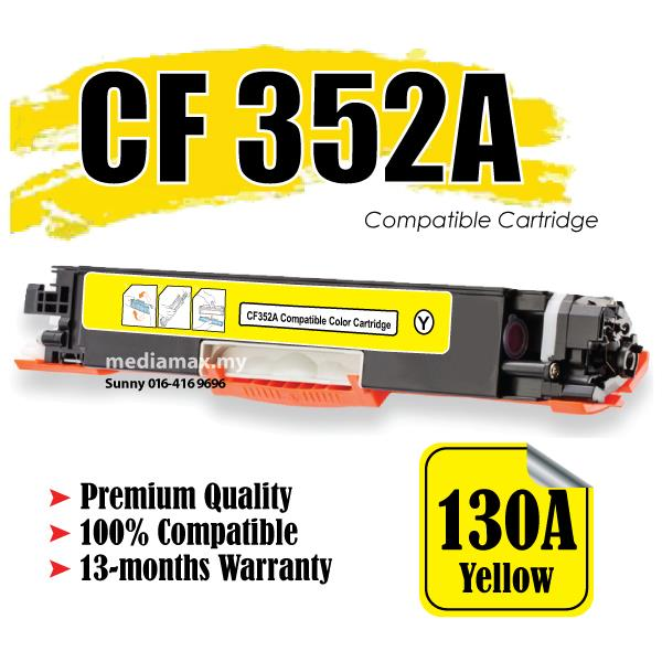 CF352A/CF 352A/352/130A Yellow Compatible HP Pro M 176 176n 177 177FW