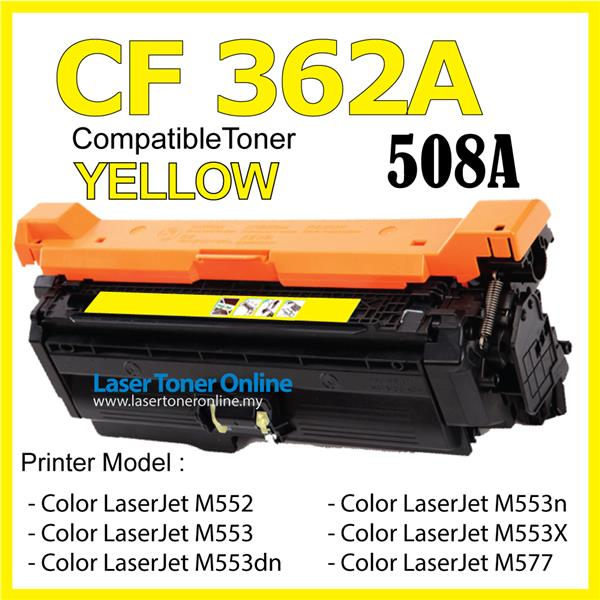 CF362A CF 362A 508A Compatible HP Laser M 552 553 557 576 Color Yellow