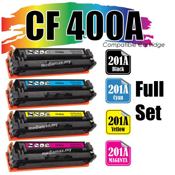 CF400A 201A Compatible HP Color LaserJet Pro M277dw M277N M 277 Set