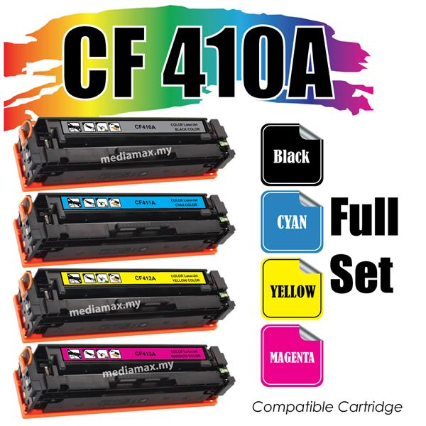 CF410A/CF 410A Compatible HP Pro Laser Jet M452 M477 Full Set Color