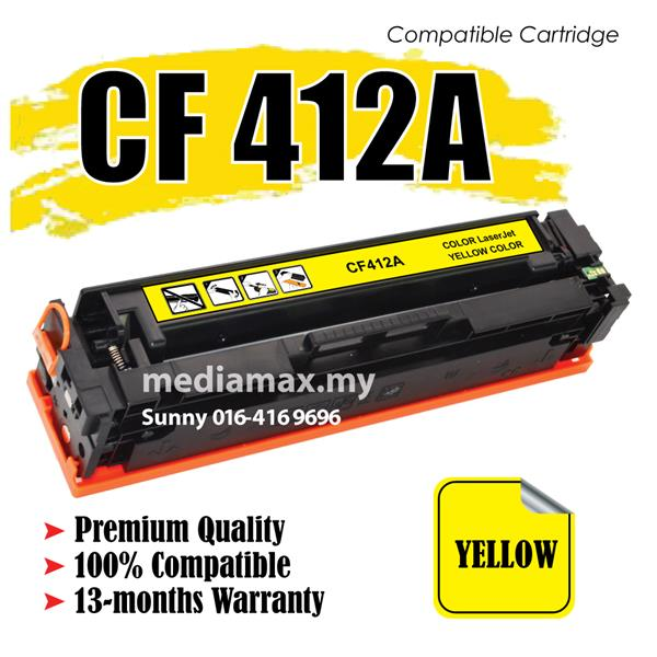 CF412A/CF 412A 410 Compatible HP Pro Laser M452NW M477 Color Yellow