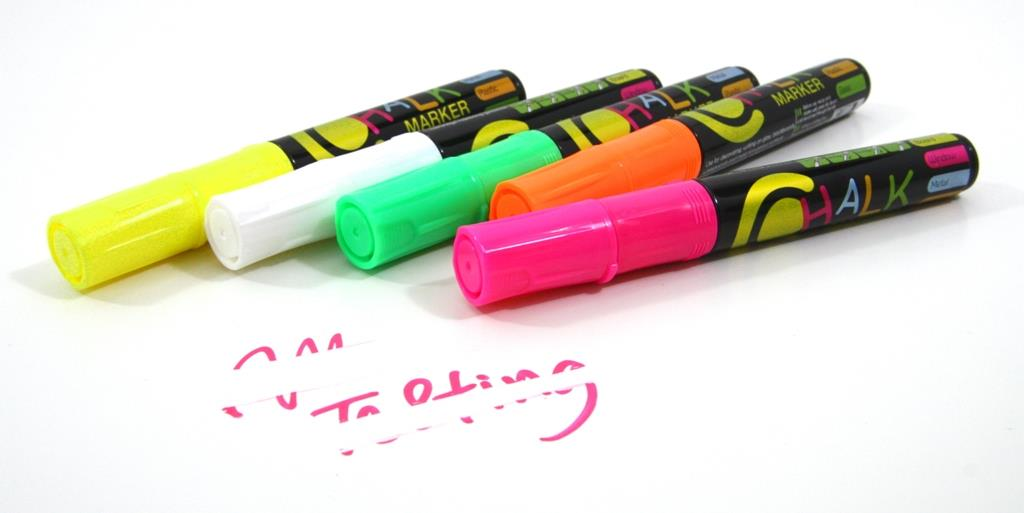 Chalk Marker Bright & Luminous Colors Chalk Marker 5 Colors Set