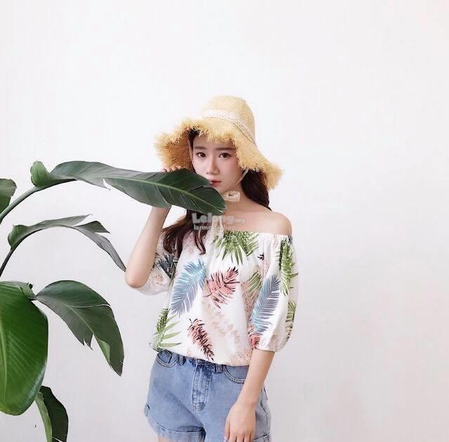 Champs Palm Off Shoulder Top [READY STOCK]