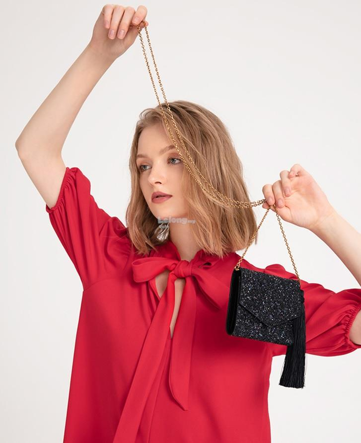 Charles & Keith 2019ST - Iconic Tassels Clutch Bag for women