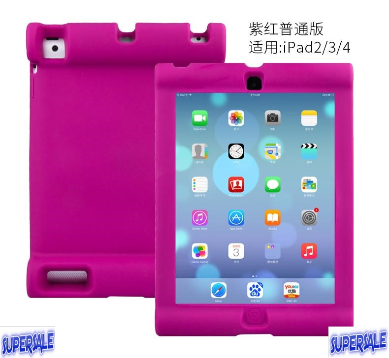 Charming color Protective Casing Case Cover for IPAD 2/3/4 with stand