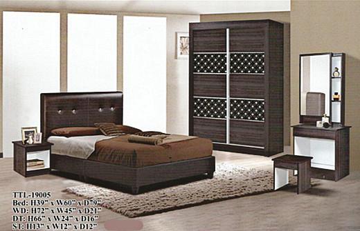 cheapest installment plan Bedroom set model - 19005