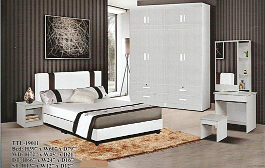 cheapest installment plan Bedroom set model - 19011