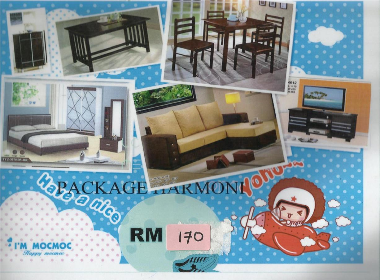 CHEAPEST INSTALLMENT PLAN HOME FURNITURE PACKAGE RM170