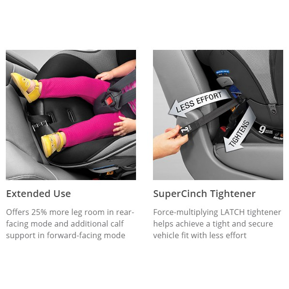 Chicco Nextfit Zip Max Extended Use Convertible Car Seat