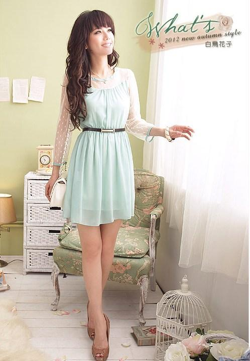 Chiffon Dress 12717 -Blue