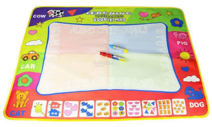 Children Aqua Doodle Drawing Toys 1 Painting Mat and 2 Water Drawing