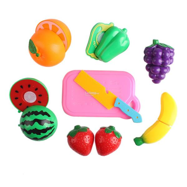 Children Fruits Vegetables Cutting Kitchen Role Play Toy Set