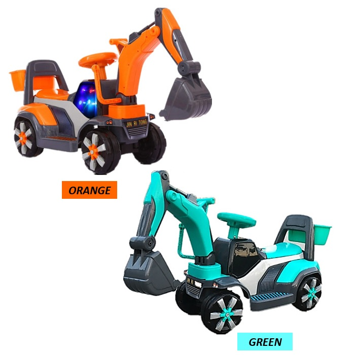 Children Kid Excavator Toy Car Ride On with Music and Light